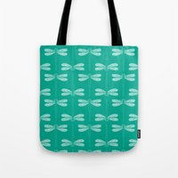dragonfly in emerald Tote Bag