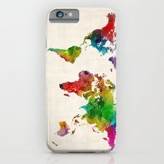 Watercolor Map of the World Map iPhone 6 Slim Case