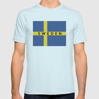 Sweden Country Flag Name… Mens Fitted Tee Light Blue SMALL