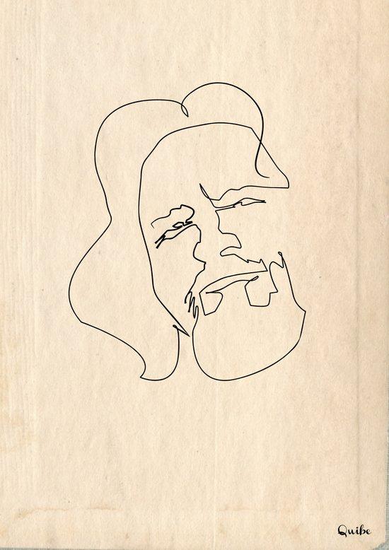 One line Big Lebowski (The Dude) Canvas Print