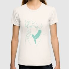 sherlock h Womens Fitted Tee Natural SMALL