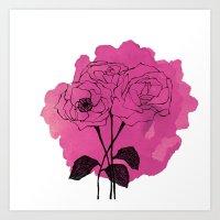 spray roses Art Print