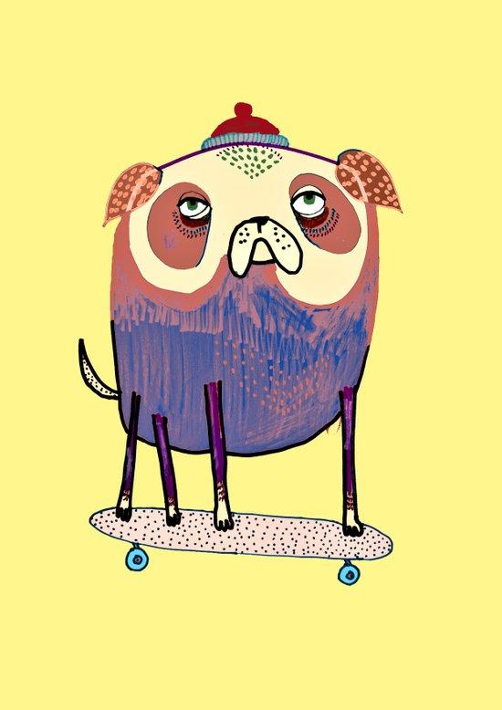 Pug Dude. Art Print