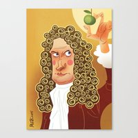 Newton Canvas Print
