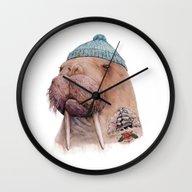 Tattooed Walrus Wall Clock