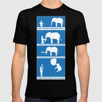 How To Make Your Elephan… Mens Fitted Tee Black SMALL