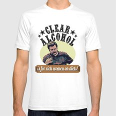 Clear Alcohol is for Rich Women on Diets!  |  Ron Swanson SMALL White Mens Fitted Tee