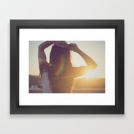 Framed Art Print featuring There's A Thorn In My Si… by Cristina Prat Mases