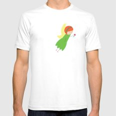Flower Faerie SMALL White Mens Fitted Tee