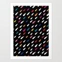 Bright Droplets Art Print