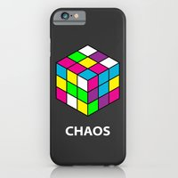 iPhone Cases featuring Chaos by Dizzy Moments