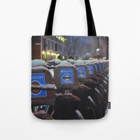 London Snow Tote Bag