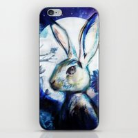 Moonlight Rabbit iPhone & iPod Skin