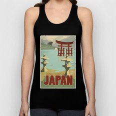 Kaiju Travel Poster Unisex Tank Top