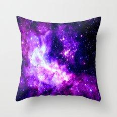 Purple Galaxy : Celestial Fireworks Throw Pillow