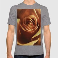 Dirty Rose Mens Fitted Tee Tri-Grey SMALL