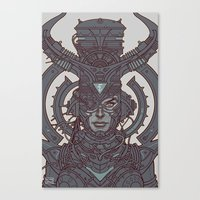 Electric Queen :: Line Art Canvas Print