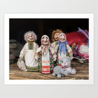 In Old Woman's Shop Art Print