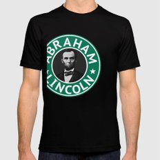 Abraham Lincoln Black SMALL Mens Fitted Tee