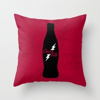 Cherry Cola Throw Pillow