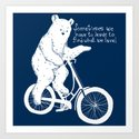 Listen to the Bear Art Print