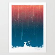 Meteor Rain (light version) Art Print