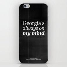 Georgia's always on my mind iPhone & iPod Skin