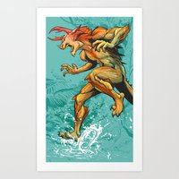 Monster Runner Art Print