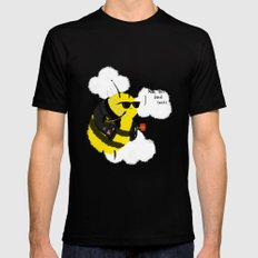 Festival Bees Mens Fitted Tee Black SMALL