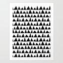 Playful triangles Art Print