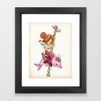Dolly Dolphin Framed Art Print