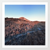 Sleepy Volcano Sunrise Art Print