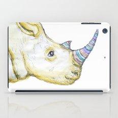 Striped Rhino Illustration iPad Case