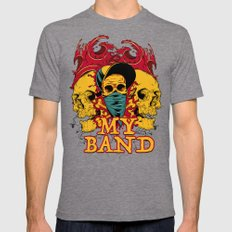 My Band Mens Fitted Tee Tri-Grey SMALL