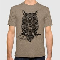 Warrior Owl 2 Mens Fitted Tee Tri-Coffee SMALL