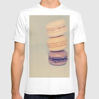 FRENCH INSPIRED Mens Fitted Tee White SMALL