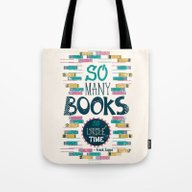 So Many Books, So Little… Tote Bag