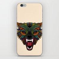 wolf fight flight ecru iPhone & iPod Skin