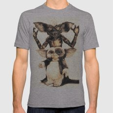 Gizmo by Aaron Bir Mens Fitted Tee Athletic Grey SMALL