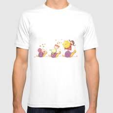 Babies in a snails White Mens Fitted Tee SMALL