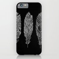 Patterned Plumes - White iPhone 6 Slim Case