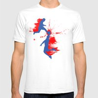Soccer & Basketball Mens Fitted Tee White SMALL