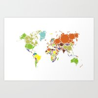 The World Goes Round & R… Art Print