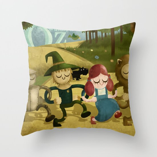 Wizard of Oz fan art Throw Pillow