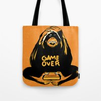 Orange Quick Foot Tote Bag