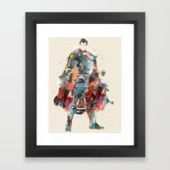 Modern Hero Framed Art Print