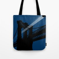 A UFO flies in Brooklyn Tote Bag