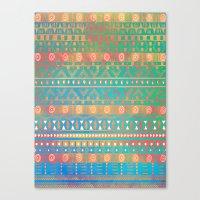 Inspired Aztec Pattern 2 Canvas Print