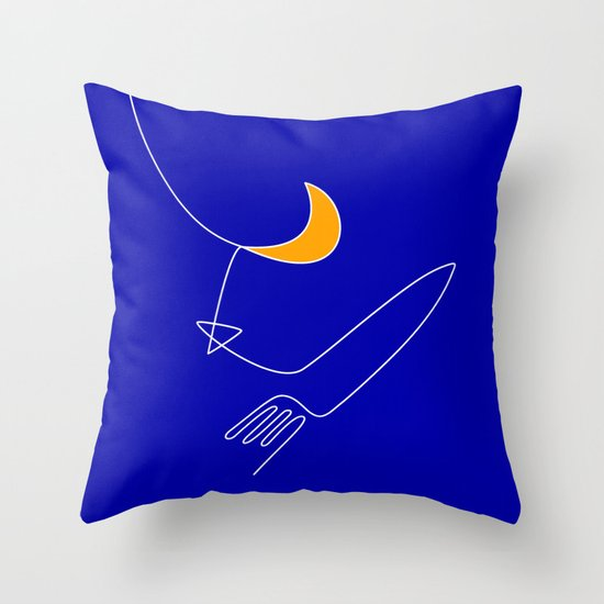 Keep your dreams alive, Conquer The Moon! Throw Pillow