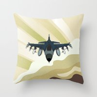 F-16 Fighting Falcon Throw Pillow